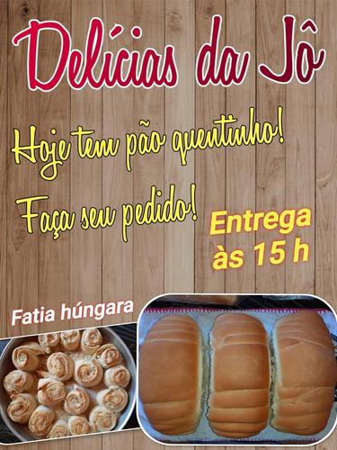 pão caseiro e fatia hungara