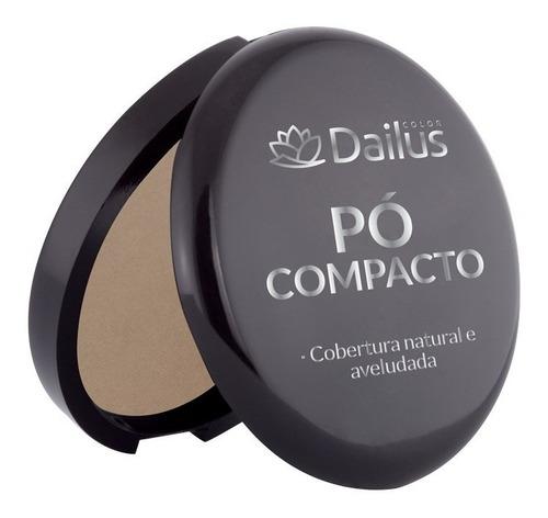 pó compacto dailus efeito aveludado e natural kit com 05 und