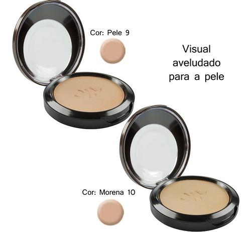 po compacto kit 3 unid  max love maquiagem varias cores