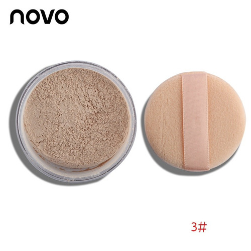pó cor de pele marca novo resistente à água