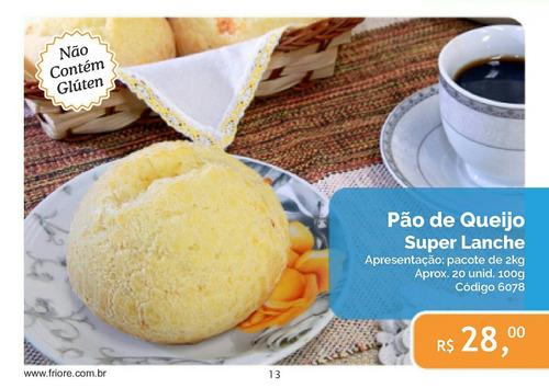 pão de queijo tipo super lanche  pacote com 2 kg