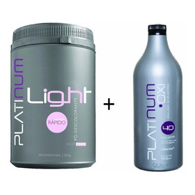 Pó Descolorante Platinum Light + Água Oxigenada Oxi + Brinde