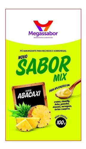 pó saborizante abacaxi 100g (megasabor)