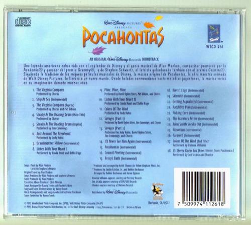 pocahontas cd soundtrack unica ed 1995 en excelente cond bvf