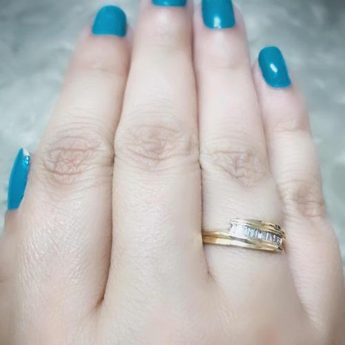 pocao2005- anel de ouro 18k750 design diamantes 415