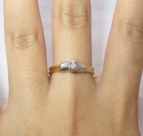 pocao2005- anel de ouro 18k750 diamante 12x s/j ft/gt 301
