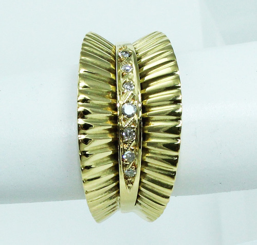 pocao2005- anel de ouro 18k750 diamantes 366