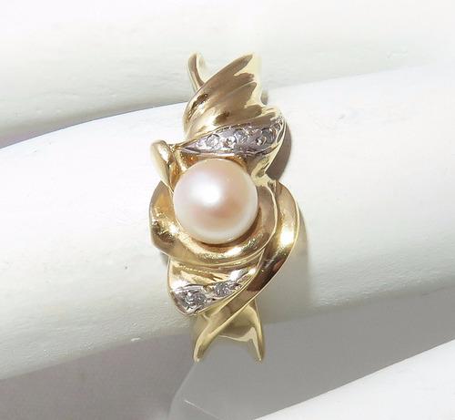 pocao2005- anel de ouro 18k750 diamantes 450