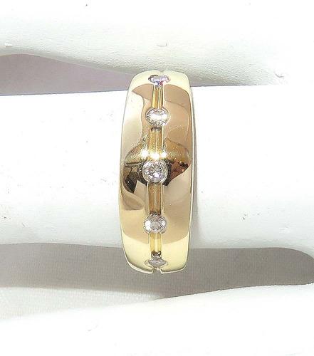 pocao2005- anel de ouro 18k750 diamantes! 550