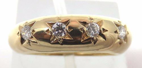 pocao2005- anel de ouro 18k750 diamantes 581
