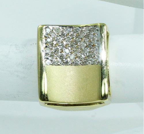 pocao2005- anel de ouro 18k750 diamantes 801