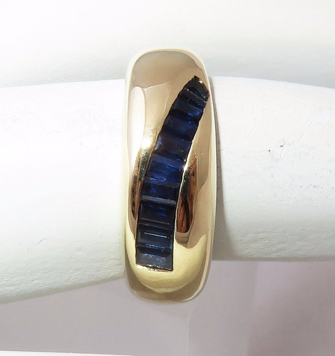 pocao2005- anel de ouro 18k750 safiras 401