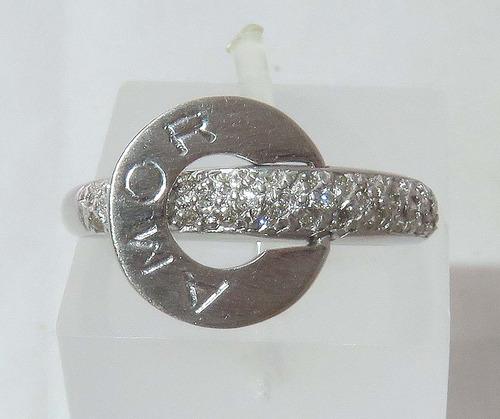 pocao2005- anel de ouro branco 18k750 pave diamantes 362