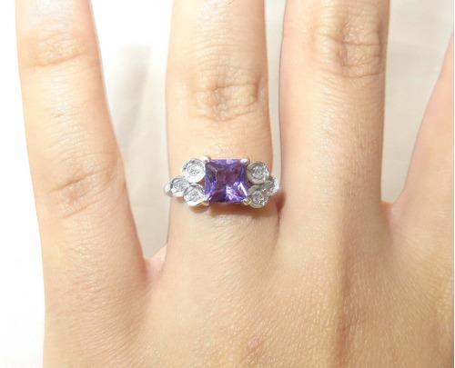 pocao2005- anel de platina com ametista 409