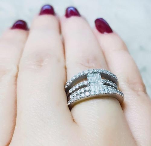 pocao2005 anel ouro 14k super pave diamante 12x sj ft/gt 728