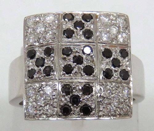 pocao2005- anel ouro branco 18k diamantes 12x s/j ft/gt 733