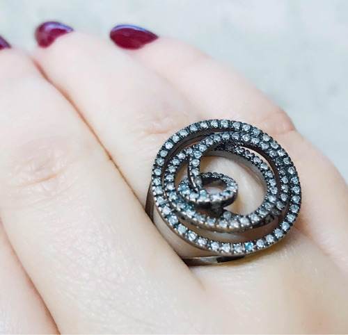 pocao2005- anel ouro branco 18k750 diamante grife vivara 716