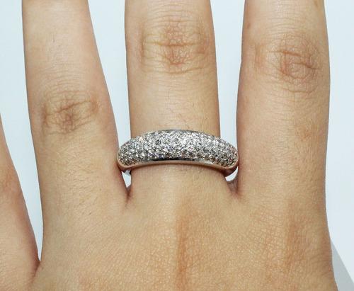 pocao2005- anel ouro branco 18k750 diamantes 798