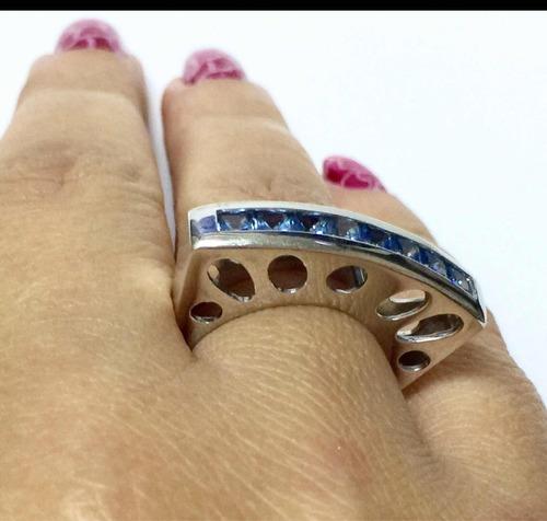 pocao2005- anel ouro branco 18k750 topazio 12x s/j ft/gt 485