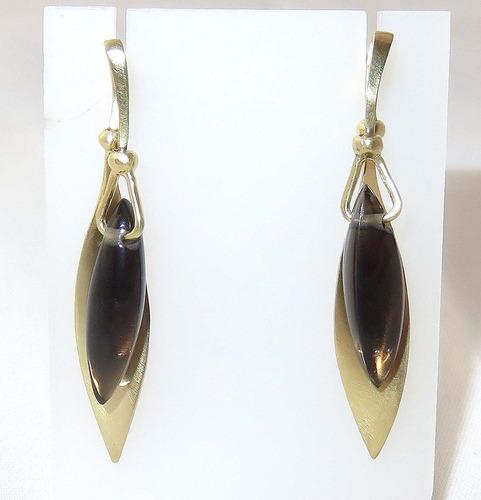 pocao2005- brincos de ouro 18k750 quartzo b168