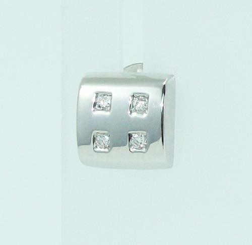pocao2005- brincos de ouro branco 18k750 diamantes b91