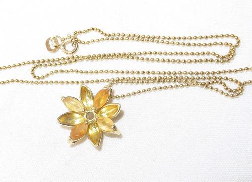 pocao2005 colar de ouro 18k citrino vivara 12x s/j ft/gt c76