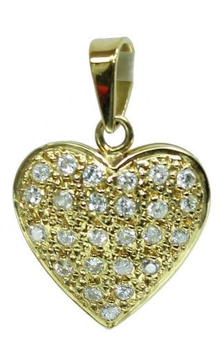 pocao2005- pingente de ouro 18k750 coração diamantes p161