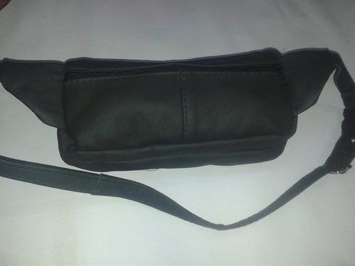 pochete bolso revolver de couro