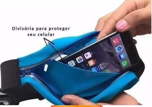 926990f6dc9f2 Pochete Cinto Para Celular Com Porta Chave Academia Corrida - R  18 ...