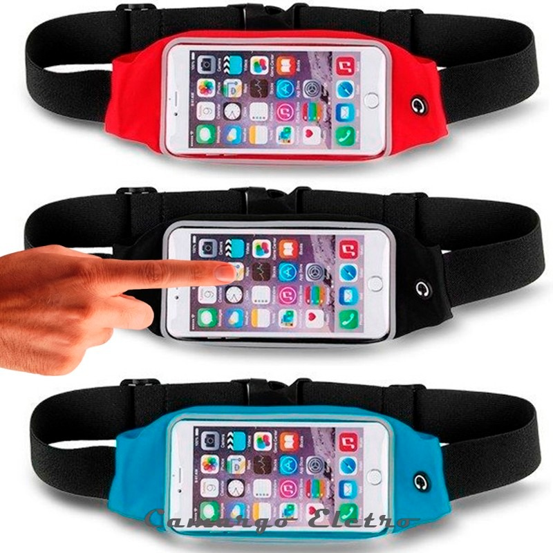 3ad351652 Pochete Corrida iPhone 5 6 7 8 X Samsung Academia Braçadeira - R$ 21 ...