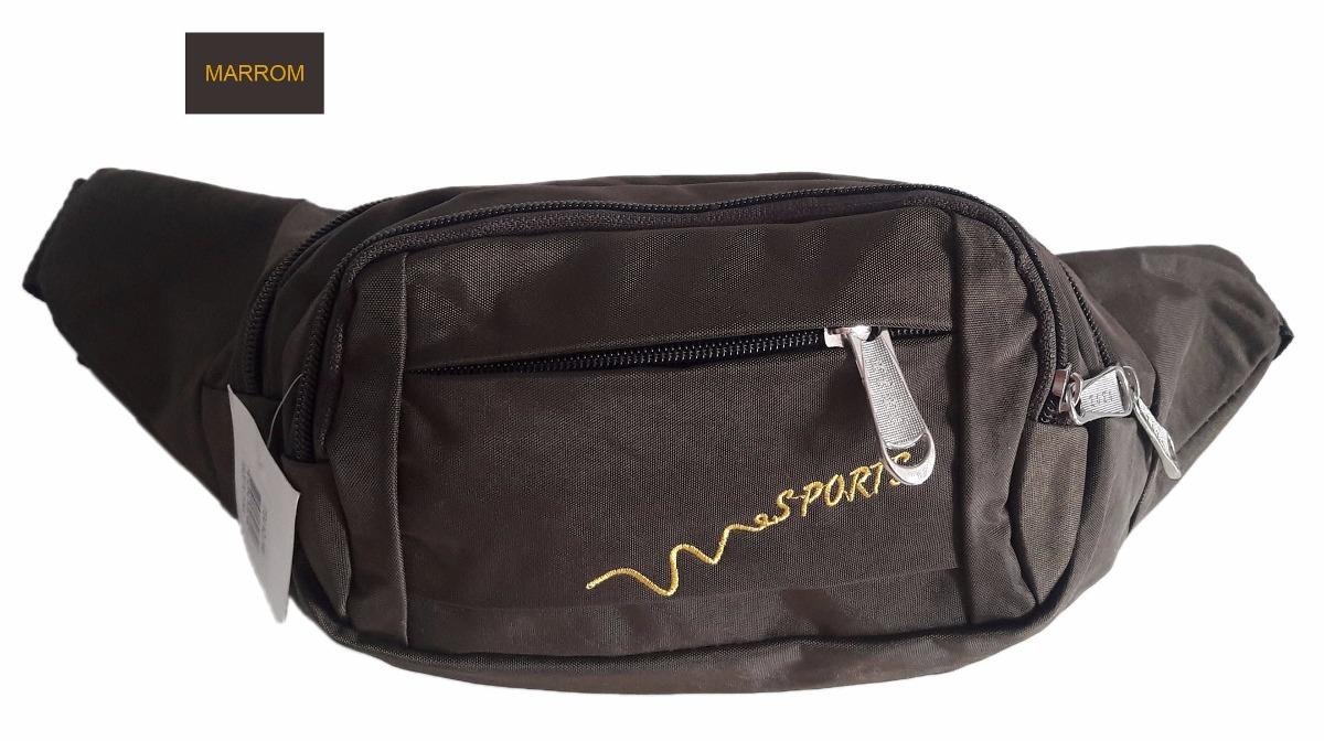 0fd80da8bf77c pochete masculina de cintura porta objetos em nylon 03 bolso. Carregando  zoom.