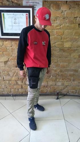 pochete para perna lizard preta com nota fiscal 024110