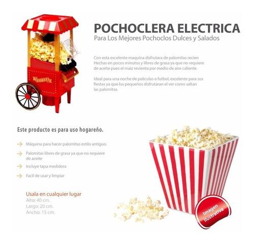 pochoclera eléctrica sin aceite carrito envio incluido