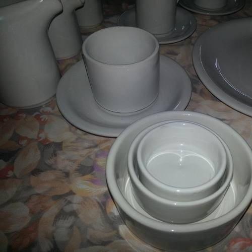 pocillo cafe con plato porcelana no verbano x 23