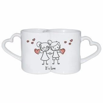 pocillo mug dual pareja oreja color rojo dia  amor y amistad
