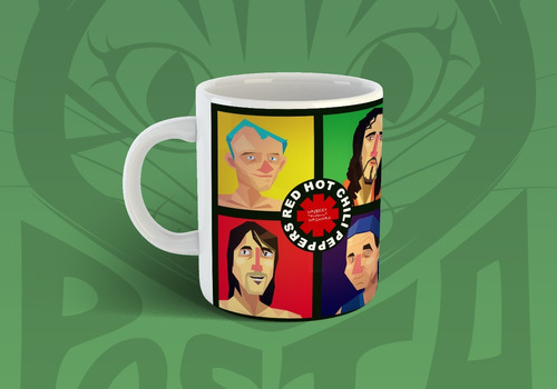 pocillo mug red hot chili peppers 11 oz