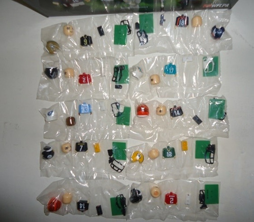 pocket players (legos) 32 equipos nfl steelers vaqueros 49's