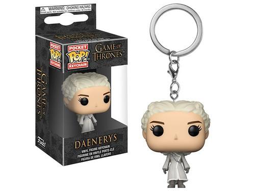 pocket pop! keychain: game of thrones - daenerys white coat