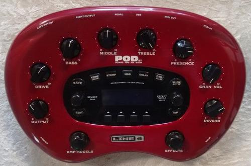 pod + pedal para guitarra