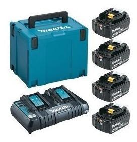 podador cerca viva duh551z a bateria da makita c/ 4 baterias