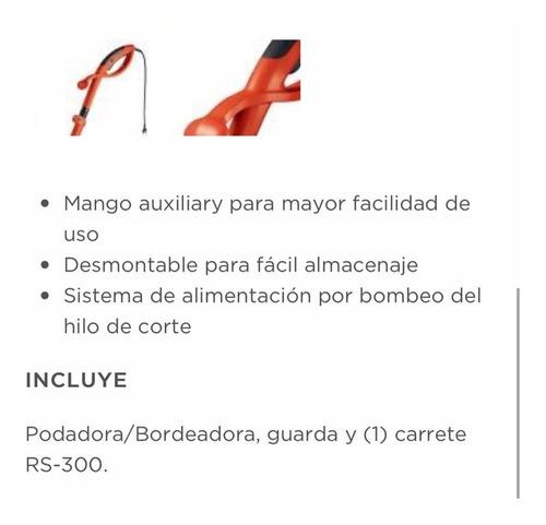 podadora bordeadora 300w black + decker gl300t 23cm