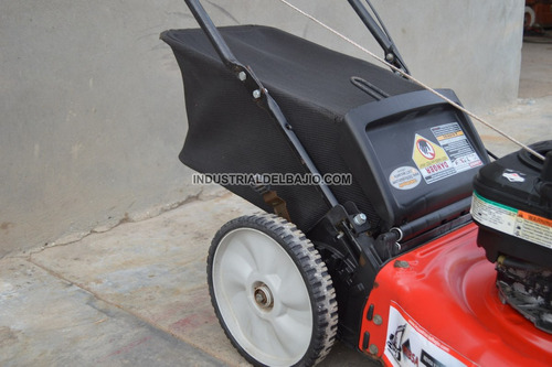 podadora cortadora zacate pasto manual bolsa trasera