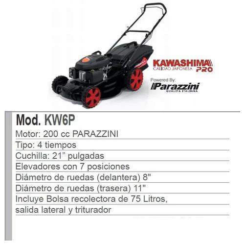 podadora kawashima 6.5 hp motor parazzini corte 21 pulgadas