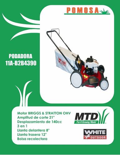 podadora mtd white, 11ab2b4390, 140 cc, 21 , envio gratis