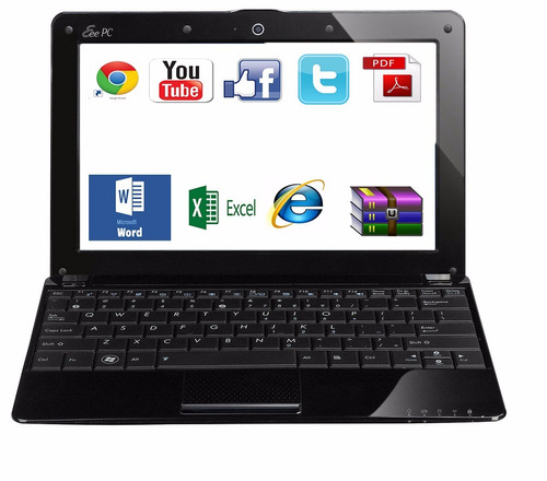 poderosa netbook portable, word excell powerpoint antivirus