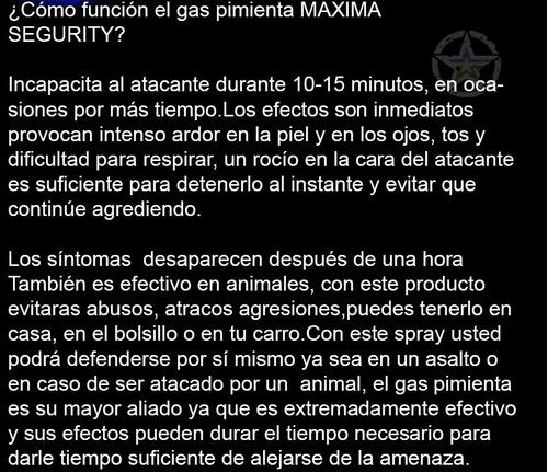 poderoso gas pimienta lacrimogeno paquete de 10 piezas de 90 gramos evita delincuencia acosos robos ataques secuestros