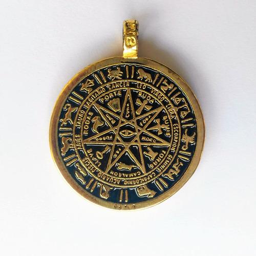 poderoso talisman de la estrella 7 puntas en baño de oro
