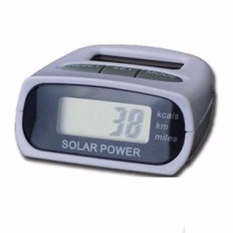 podometro contador de pasos con celda solar y pantalla lcd