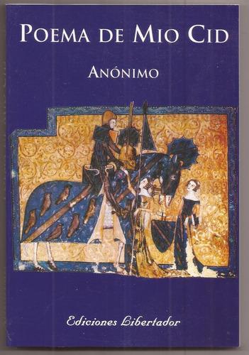 poema de mio cid, anonimo, ediciones libertador