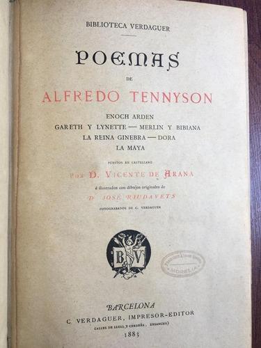 poemas de alfredo tennyson. c verdaguer. 1883
